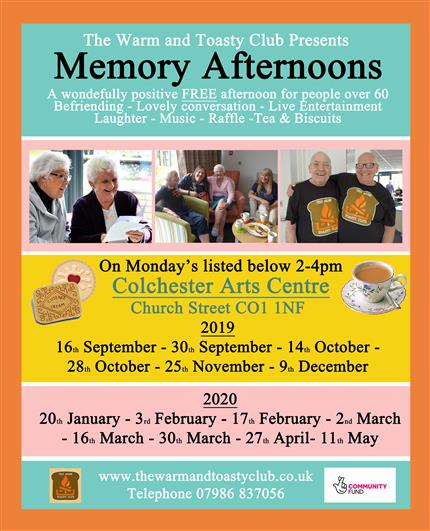 The Warm & Toasty Club presents Memory Afternoons *
