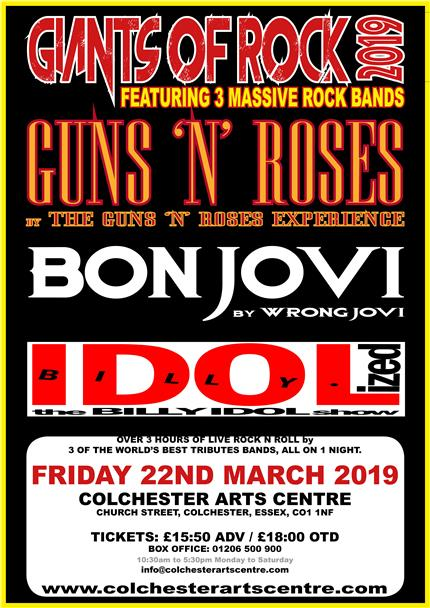 The Guns 'N Roses Experience + Wrong Jovi + Idolized *