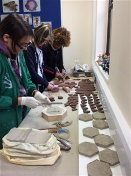 3 days of Islamic Tile Making Workshops: Earthenware Tile Making