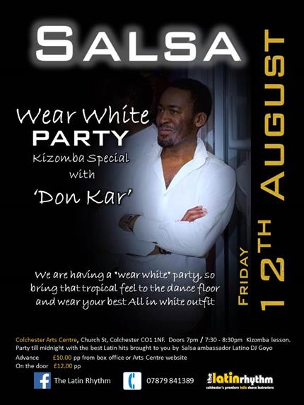 The Latin Rhythm Wear White Salsa Party Kizomba Special with Don Kar *