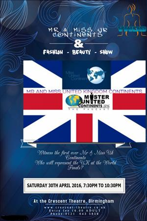 Mr & Miss UK Continents 2016