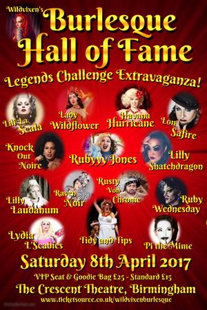 Wildvixen's BHoF Legends Challange Extravaganza 2016