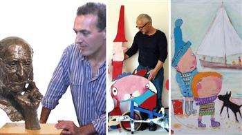 Artists at work at Dartington