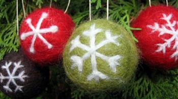 Crafted: Festive Felted Baubles