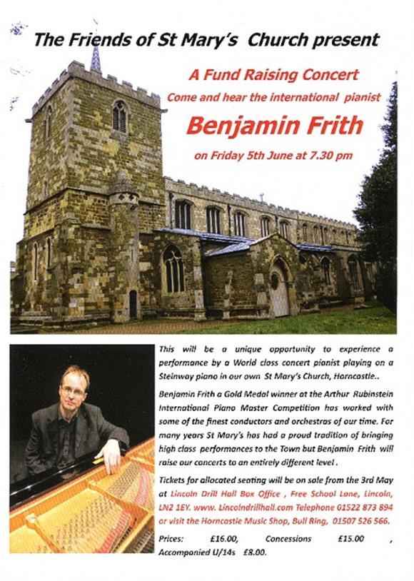 International Pianist Benjamin Frith in Concert