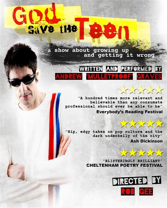 God Save the Teen / Living for the City - a spoken word double bill
