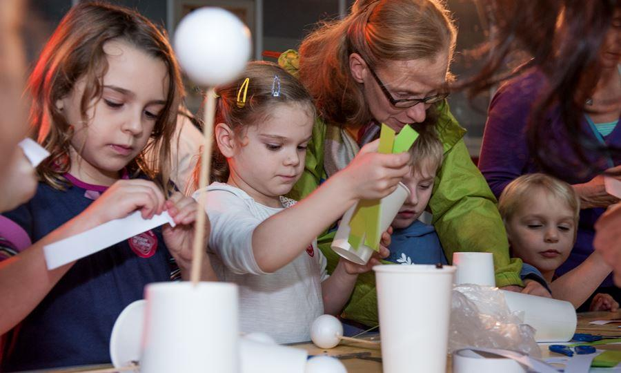 Families enjoy crafts while discovering London's past, present and future.