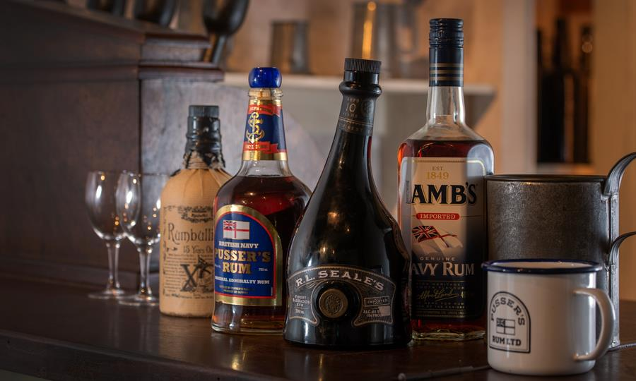 Taste different rums from Rumbullion! to Lamb's