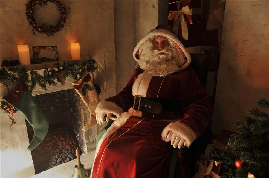 Santa is in his Grotto, ready to hear all your Christmas wishes.