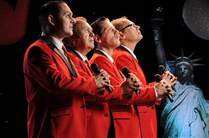 Promotional image for THE NEW JERSEY BOYS