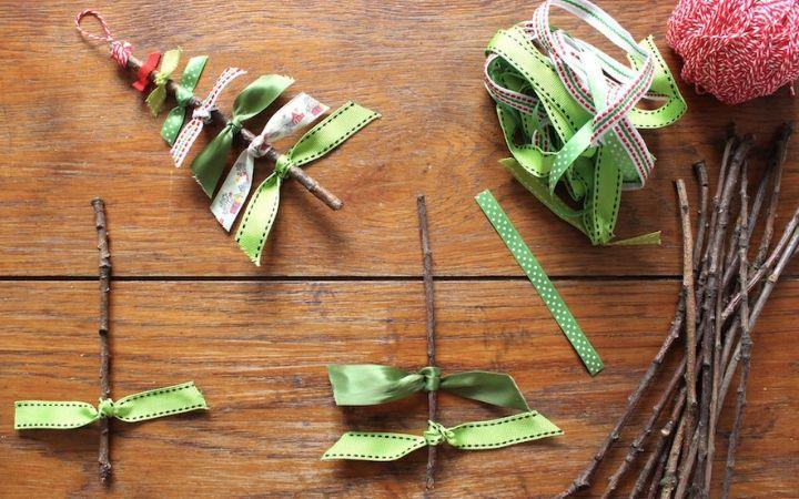 Crafty Kids Ribbon Christmas Trees image