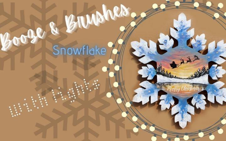 Booze & Brushes - Christmas Snowflake  image