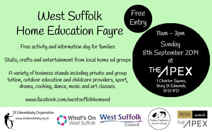 West Suffolk Home Education Fayre image