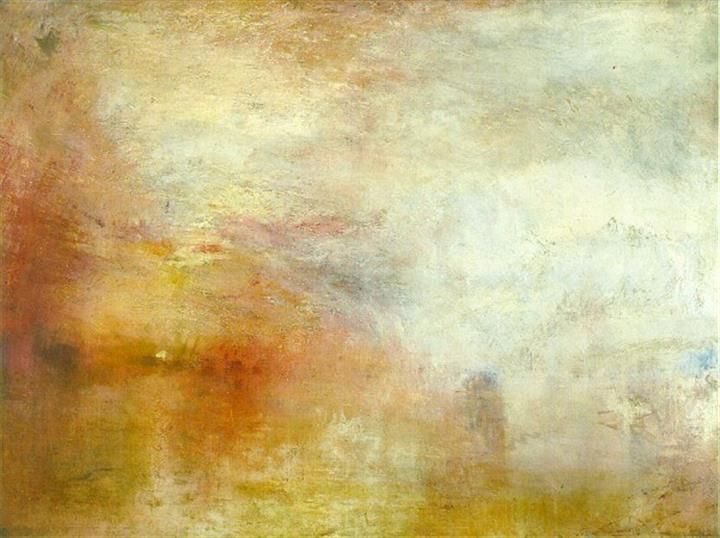 Painting Turner's 'Setting Sun over a Lake'