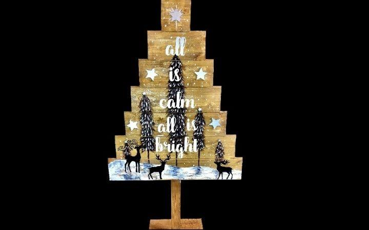 Booze & Brushes Standing Christmas Tree Paint Night image