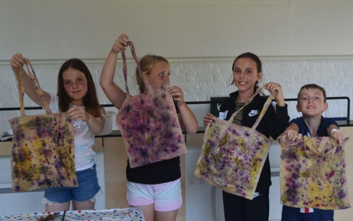 Kids Art Club, Natural Printing and Fabric Transfer image