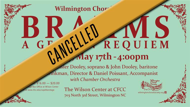CANCELLED: Brahms A German Requiem