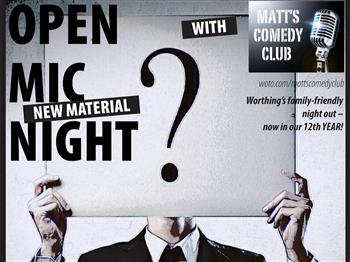 Featured image for Matt's Comedy Club presents: New Material Open Mic