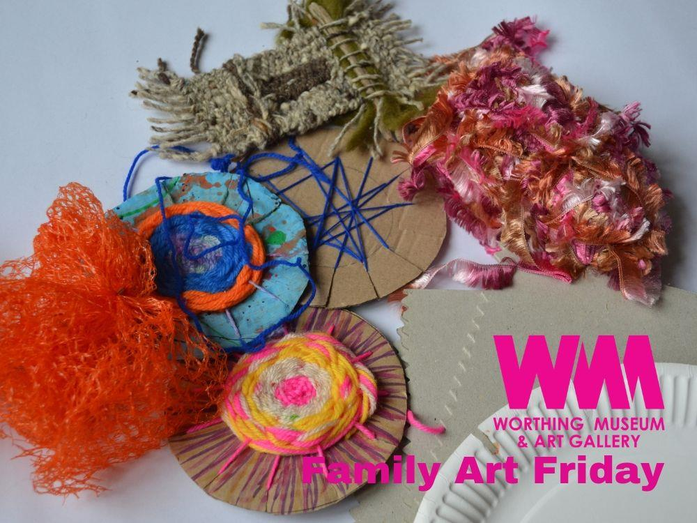 Main image for Family Art Friday: Weaving & Woolcrafts